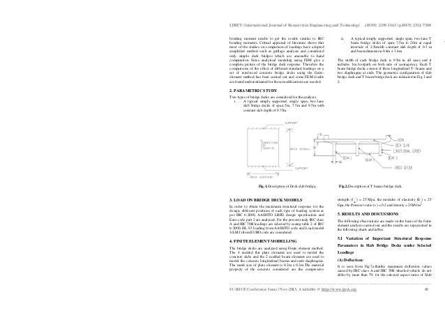 Analysis of rc bridge decks for selected national a nd internationalstandard loadings using finite element method Slide 2