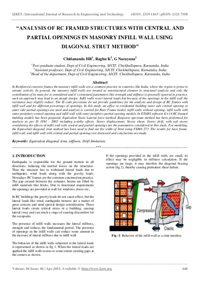 Analysis of rc framed structures with central and partial ...