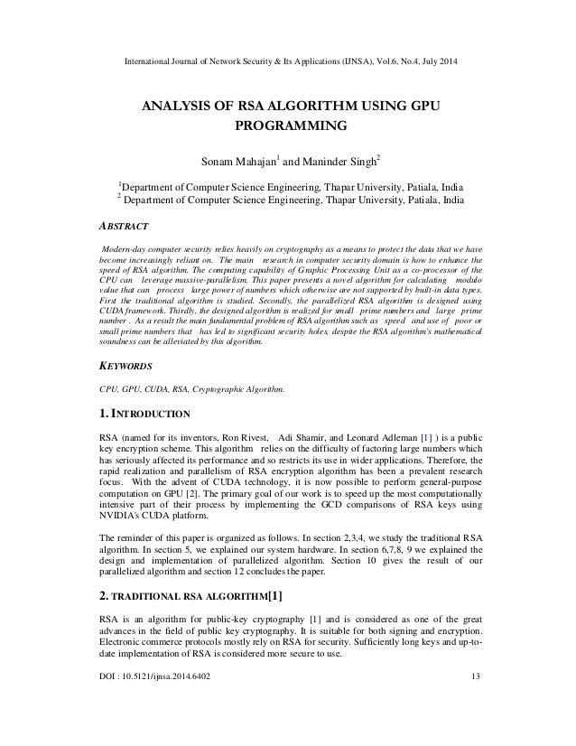 International Journal of Network Security & Its Applications (IJNSA), Vol.6, No.4, July 2014 DOI : 10.5121/ijnsa.2014.6402...