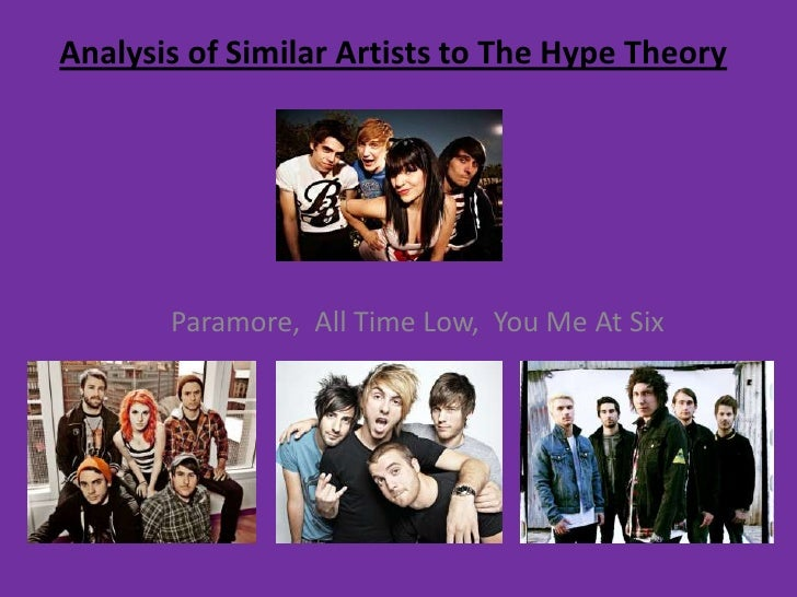 Analysis of Similar Artists to The Hype Theory<br />     Paramore,  All Time Low,  You Me At Six<br />