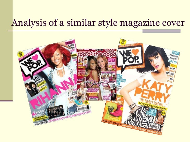 Analysis of a similar style magazine cover