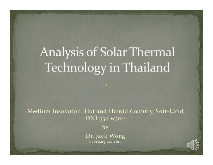 MediumInsolation,HotandHumidCountry,Soft‐Land                   DNI550w/m 2                         by         ...