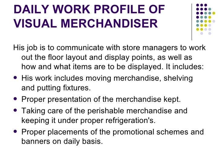 Analysis of store operations - Visual merchandising head office jobs ...