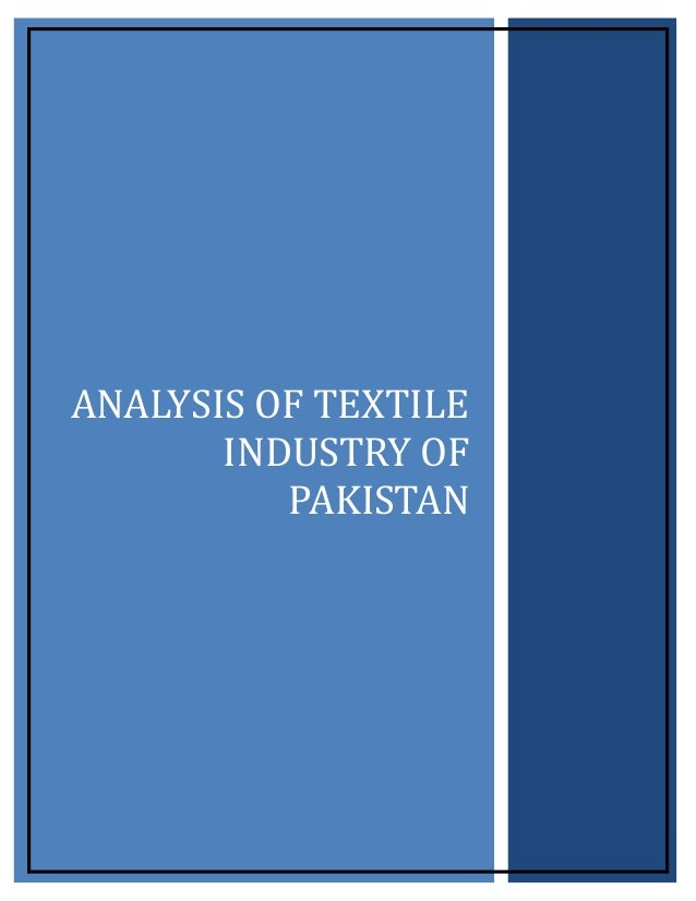 research pieces of paper regarding pakistan textile industry