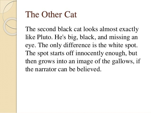 character analysis of the narrator in the black cat by edgar allan poe 2013-6-2  analysis of edgar allan poe's the black cat edgar allan poe wrote that the single effect was the most important aspect of a short story, which everything must.