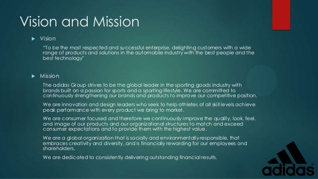 Adidas Shoe Company Mission Statement
