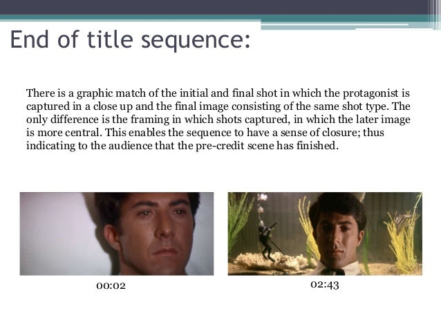 analysis of the graduate For this week's assignment we are supposed to analyze one of our favorite movie  and discuss how it represents the qualities of a compelling.
