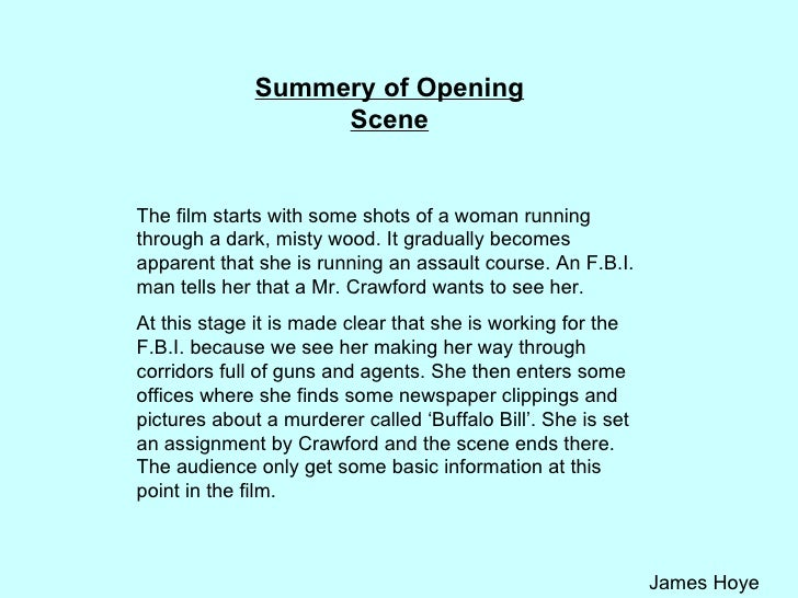 analysis of the opening sequence of clueless At as level my group and i produced a crime thriller opening title sequence which the potential film displaying a sequence of events in non-chronological order, the narrative following a detective (key character involved in the crime genre) who reads clues and reconstructs the story of each of the several different murders.