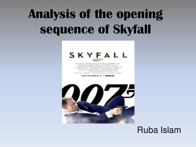 analysis of the opening sequence of the Analysis of an opening sequence: jaws jaws is a 1975 american thriller film with the sub-genre of a horror the film is based on a top selling novel and directed by steven spielberg the film is about, the police chief of amity island, trying to protect beach goers from a giant maneating white shark.