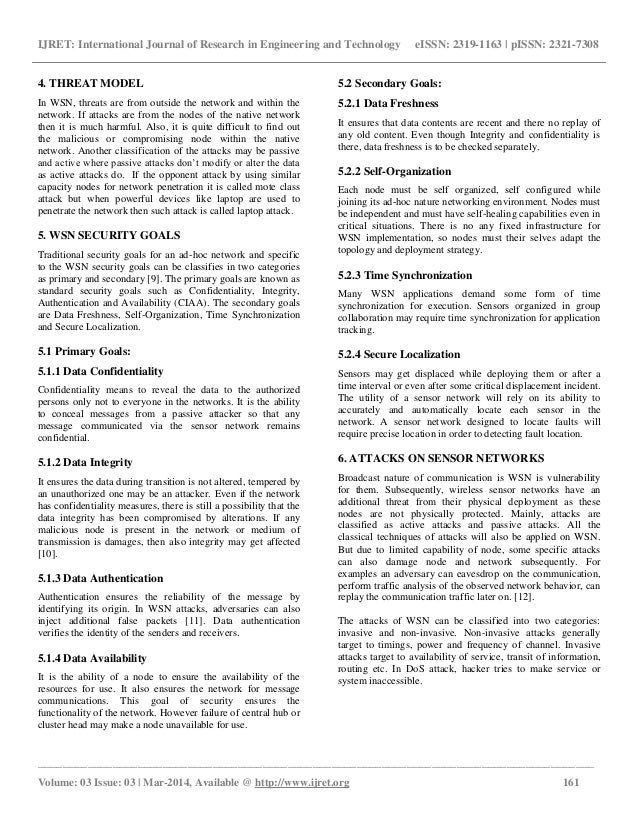 modeling attacks on wireless sensor networks Security attacks in wireless sensor networks the broadcasting nature, absence of infrastructure, and dynamic topology of wireless sensor network (wsn) makes it vulnerable to several security threats communication establishment in an open environment exposes sensor networks to wsn can be broadly classified into passive and active.