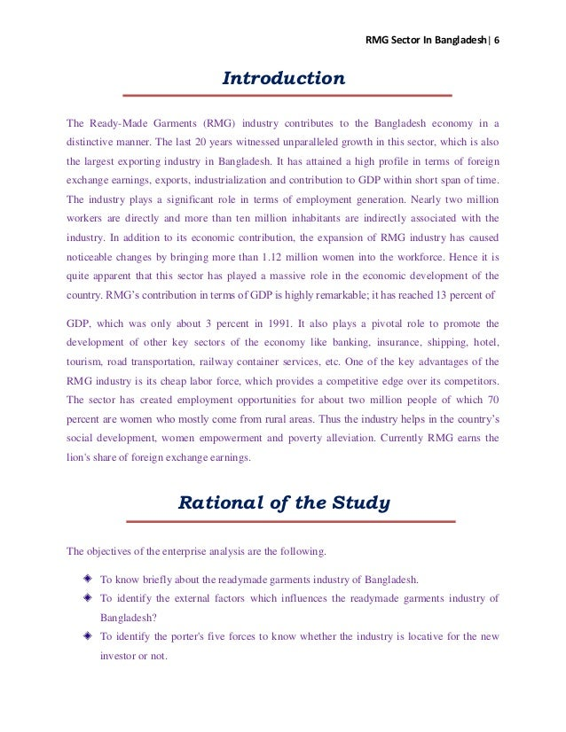 report on rmg sector of bangladesh This report points towards poor implementation of laws, inadequate monitoring  from  the textile and garment industry is a major driver of the bangladesh   treatment plants (etps) in the garments industry of bangladesh: a.
