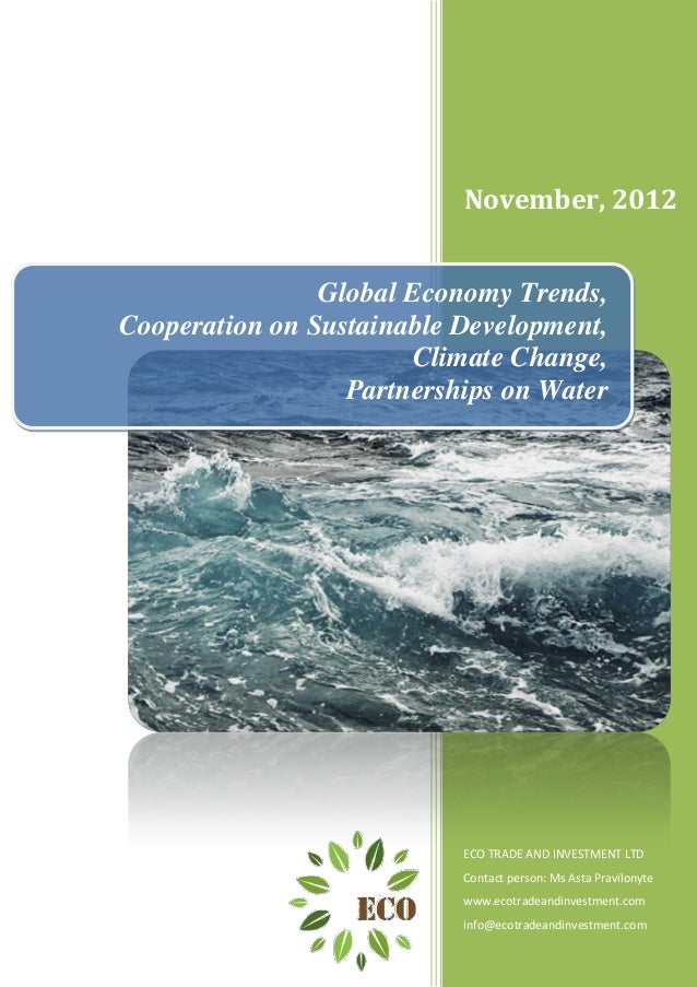 November, 2012                Global Economy Trends,Cooperation on Sustainable Development,                        Climate...
