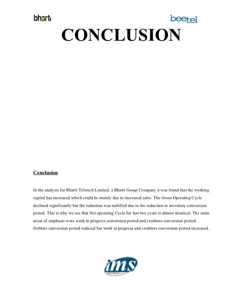 an analysis on working capital management 43 the case study: the analysis 40 44 summary and conclusions 44 45 selected references 45  but working capital management provides the fuel that moves it.