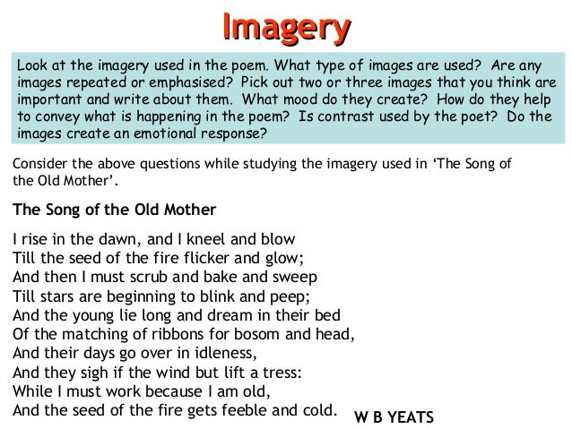 The song of the old mother essay
