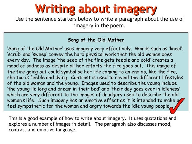 poem analysis 22 writing about imagery