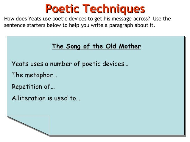 poem analysis poetic techniques how