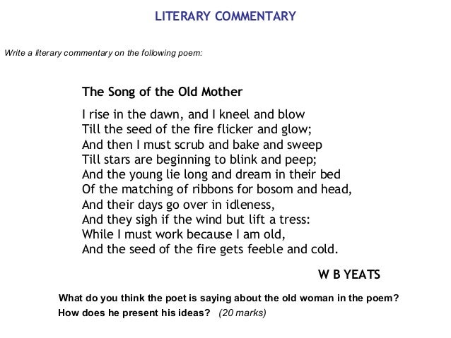 poem analysis 4 literary commentary write