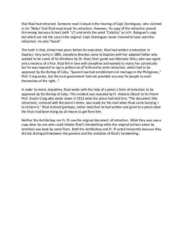 Rizal analysis