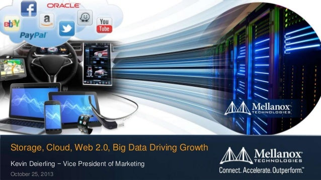 Storage, Cloud, Web 2.0, Big Data Driving Growth Kevin Deierling − Vice President of Marketing October 25, 2013