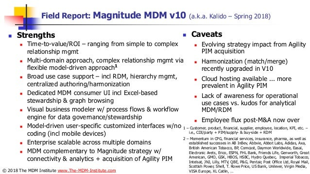 Analyst field reports on top 20 multi domain MDM solutions