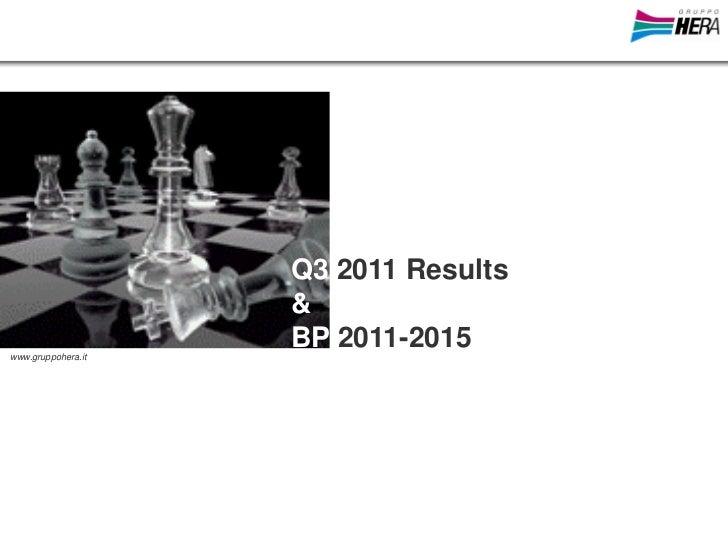Q3 2011 Results                    &www.gruppohera.it                    BP 2011-2015