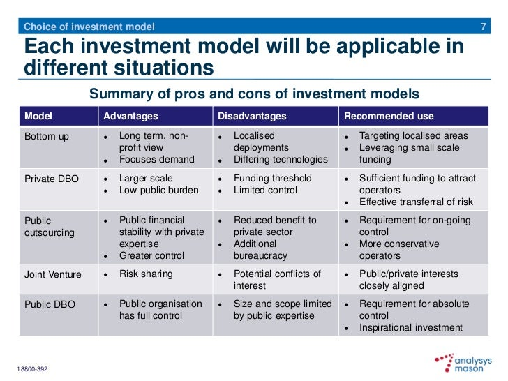 Broadband Investment Models - Government