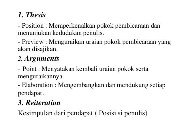 contoh thesis argument reiteration