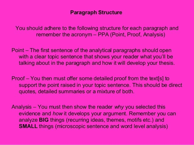 point proof analysis essay