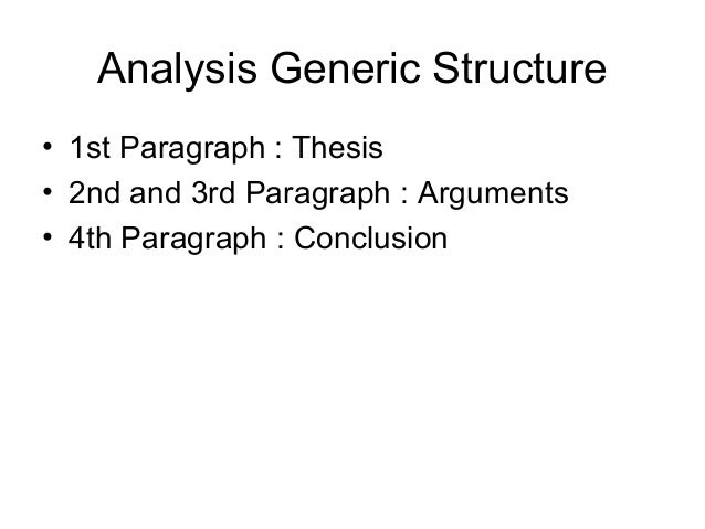 generic structure of an analytical essay Find and save ideas about essay structure on pinterest | see more ideas about essay outline format, essay tips and essay writing tips.
