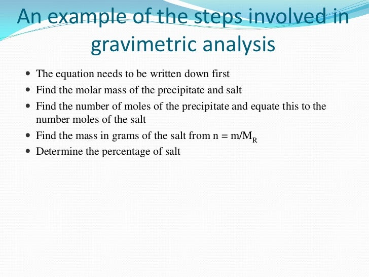 gravimetric analysis of hydrated copper sulphate