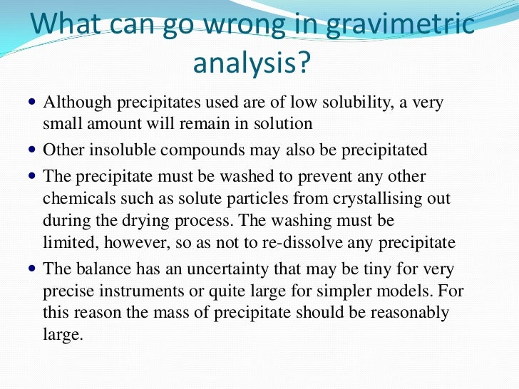 Determination of sulfate by gravimetry