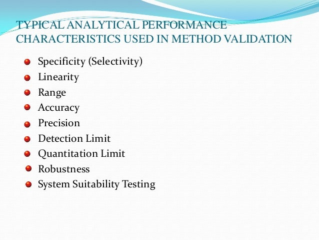 validation of analytical methods used for Here i am listing the statistical methods used in the evaluation of the data generated during the method validation 1  analytical methods validation(jp.