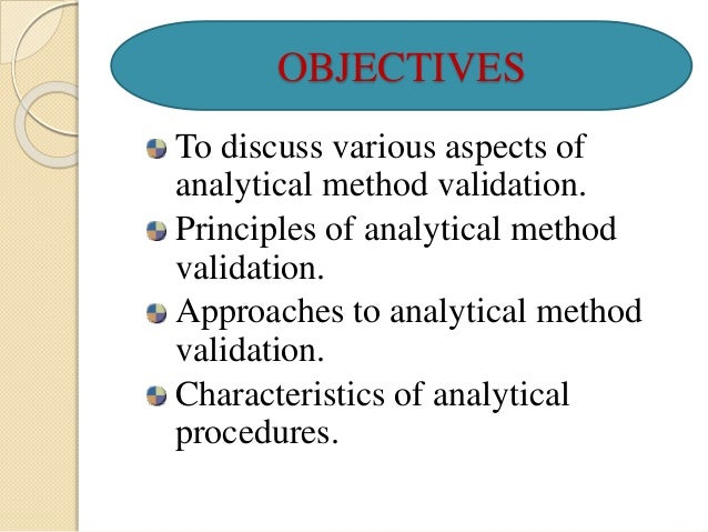 validation of analytical methods used for 2 guidelines on validation 157 13 analytical methods, whether or not they indicate stability, should be validated 158 159 14 the analytical method should be validated by research and development before being.