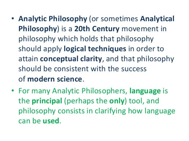 Various conceptions of analytic philosophy