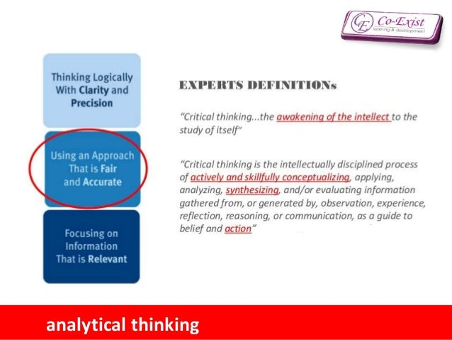 critical thinking problem solving analytical writing and