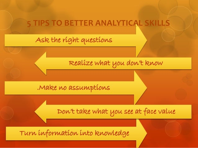 analytical thinking skills for problem solving ispatguru com