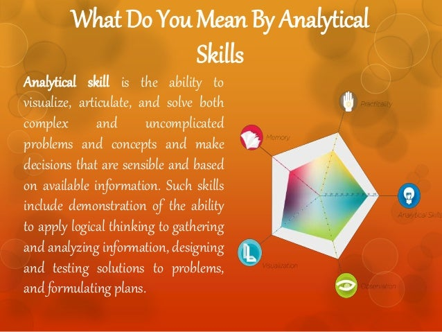 how to use analytical skills