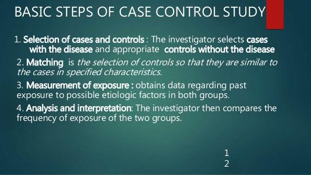individual matching case-control study