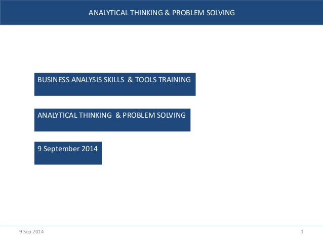analytical thinking and problem solving