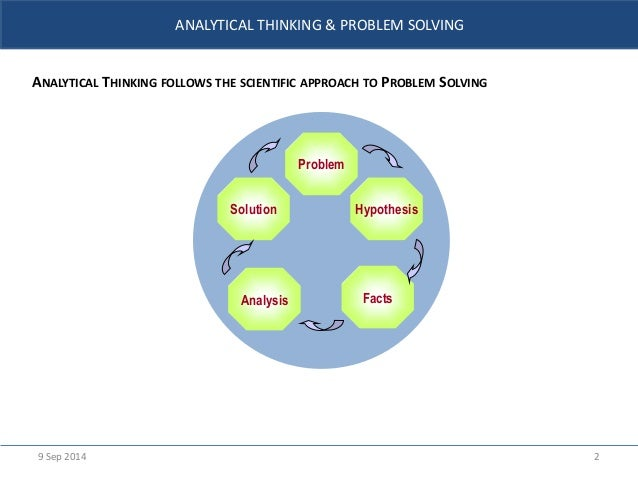 analytical approach to problem solving