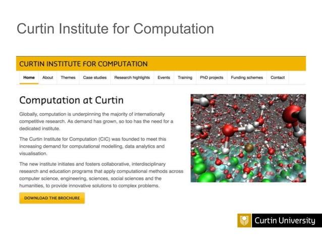 Curtin Institute for Computation