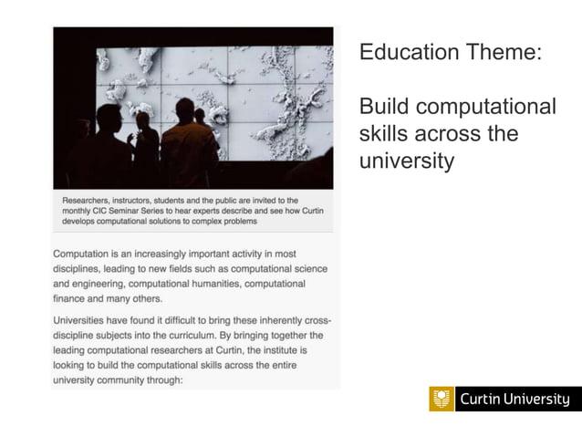 Education Theme: Build computational skills across the university