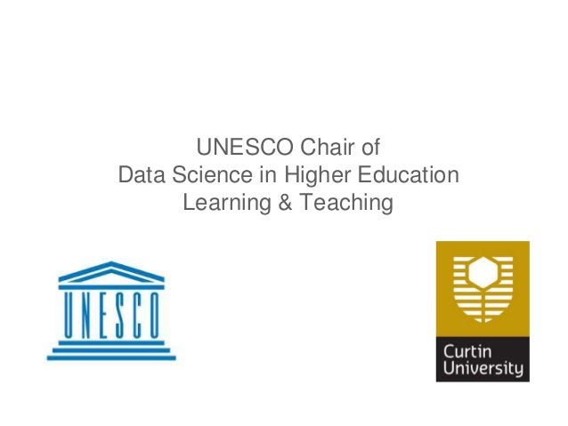 UNESCO Chair of Data Science in Higher Education Learning & Teaching