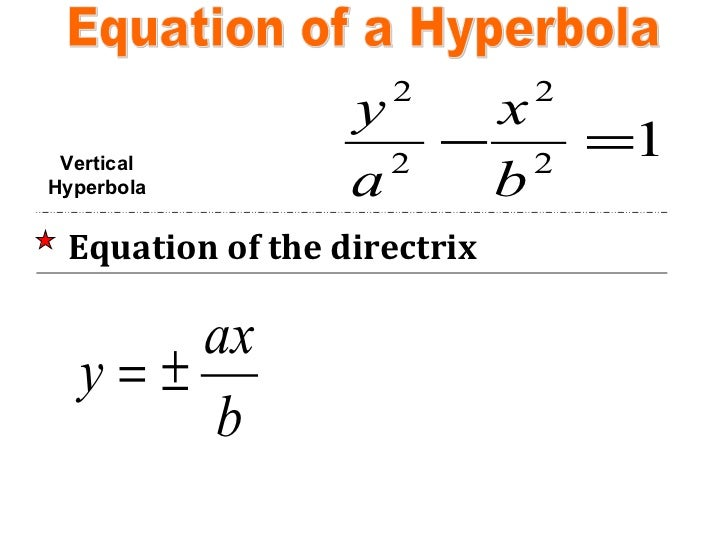 Analytic geometry hyperbola