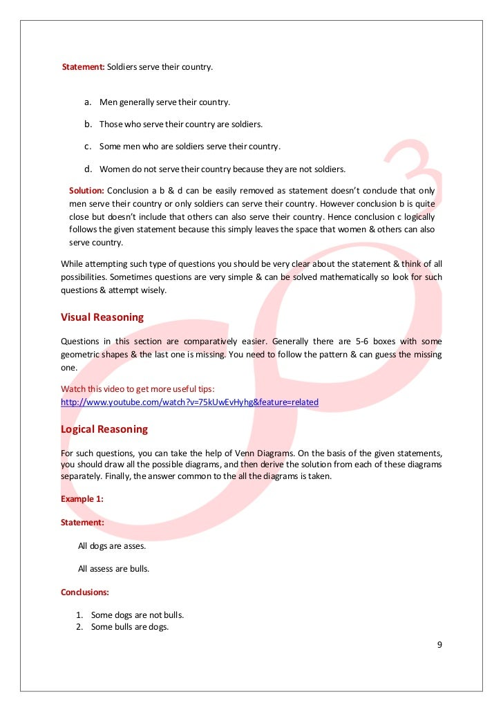 Analytic reasoning test art tips tricks 9 10 ccuart Choice Image