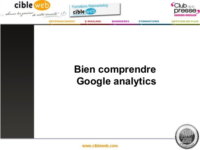 Bien comprendreGoogle analytics
