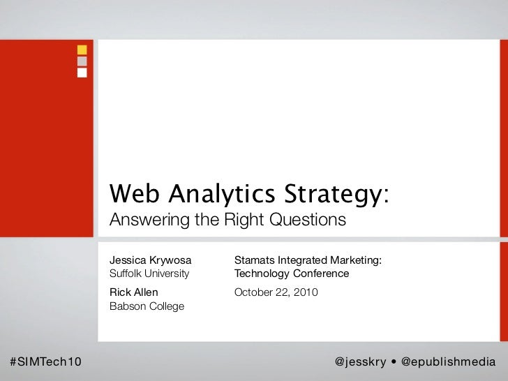 Web Analytics Strategy: Answering the Right Questions