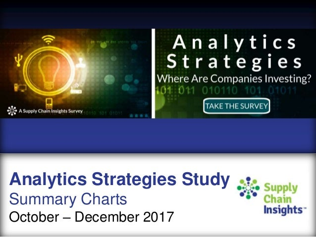 Analytics Strategies Study - 2017 Survey summary charts
