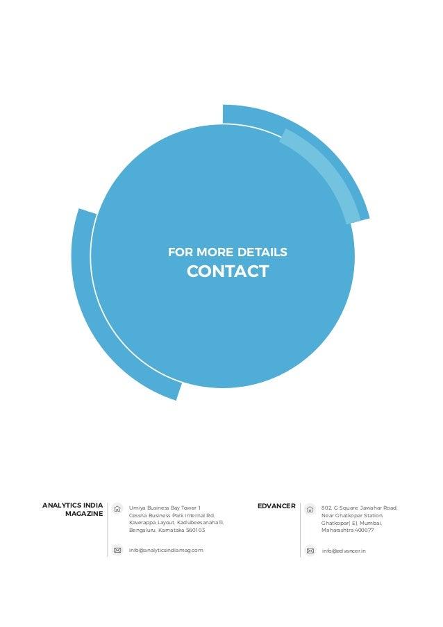 info@analyticsindiamag.com ANALYTICS INDIA MAGAZINE FOR MORE DETAILS CONTACT info@edvancer.in EDVANCERUmiya Business Bay T...
