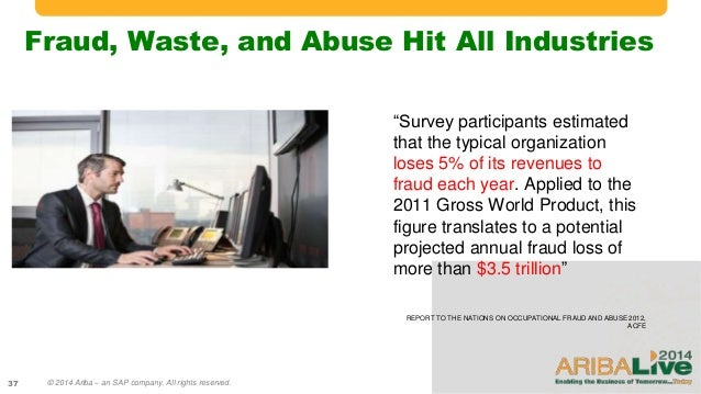 the impact of occupational fraud and abuse on the company Occupational fraud and abuse is a widespread problem that affects practically every organization, regardless of size, location or industry andrews international's team of internal and external resources are trained and experienced in various areas of fraud investigation with work related involvement in government and public law enforcement.